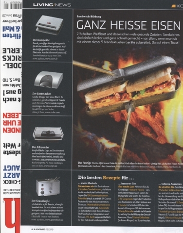 Sandwichmaker im Men's Health