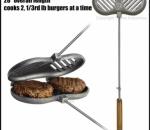 Hamburger Griller (doppelt) aus Gusseisen von Rome Industries