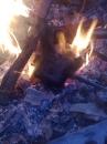 Sandwichmaker, einfach, aus Gusseisen im offenen Feuer