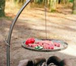 Schwenkgrill aus Edelstahl mit Rost, Wok oder Wikingerplatte - Camp Fire von Nielsen