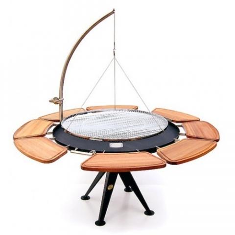 holzkohlegrill 120cm m edelstahl rost schwenkarm und winde sandwichmaker waffeleisen. Black Bedroom Furniture Sets. Home Design Ideas