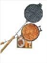 Waffeleisen, rund, aus Gusseisen von Rome Industries