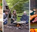 Edelstahl Schwenkgrill System für Lagerfeuer und Feuerschalen