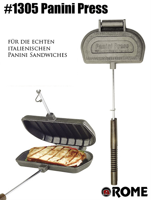 panini press sandwichtoaster von rome industries sandwichmaker waffeleisen feuerschalen. Black Bedroom Furniture Sets. Home Design Ideas