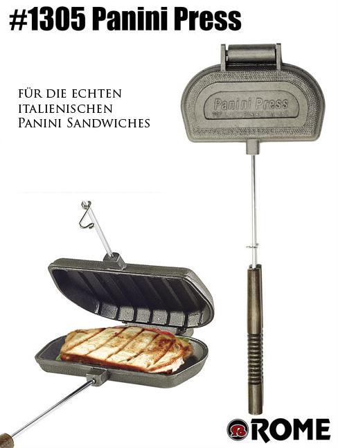 panini press sandwichtoaster von rome industries sandwichmaker waffeleisen feuerschalen. Black Bedroom Furniture Sets. Home Design Ideas