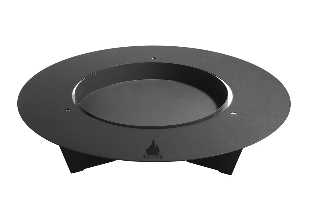 fireplate feuerschale 100cm schwarz radius design. Black Bedroom Furniture Sets. Home Design Ideas