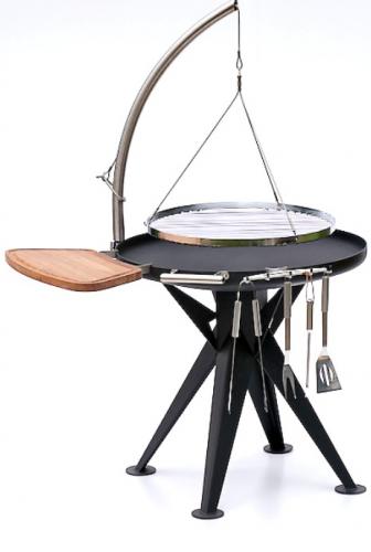 nielsen holzkohle grill 80cm inkl edelstahl rost und schwenkarm sandwichmaker waffeleisen. Black Bedroom Furniture Sets. Home Design Ideas