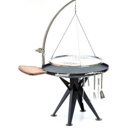 holzkohlegrill 100cm m edelstahl rost schwenkarm und winde sandwichmaker waffeleisen. Black Bedroom Furniture Sets. Home Design Ideas