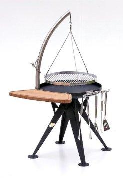 nielsen holzkohle grill 60cm inkl edelstahl rost und schwenkarm sandwichmaker waffeleisen. Black Bedroom Furniture Sets. Home Design Ideas
